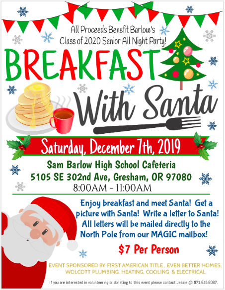 Breakfast with Santa Poster