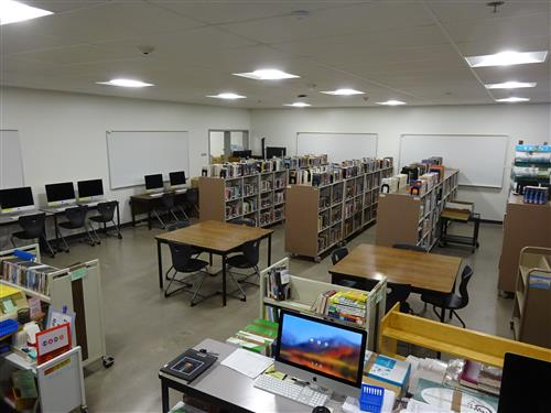 Photo of temporary Library