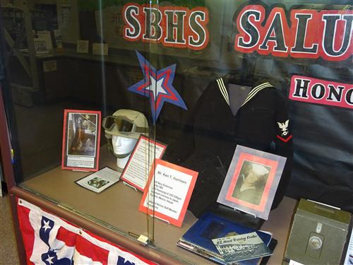 Image of Veterans Day display