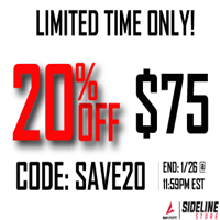SAVE20 Code for Sideline Store