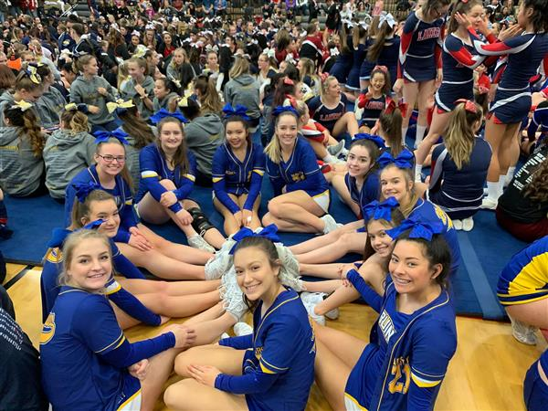 Cheer Waiting for Results at Clackamas