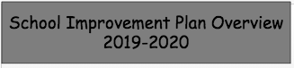 2019-2020 School Improvement Plan
