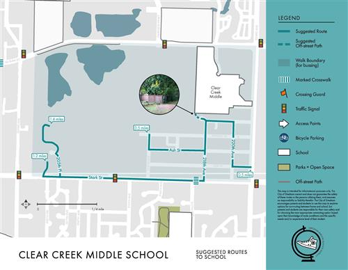 Clear Creek walk routes