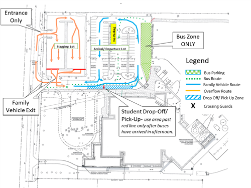 DCD arrival and dismissal map
