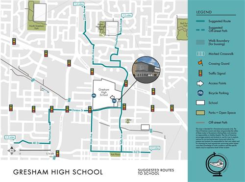 Gresham HS walk routes