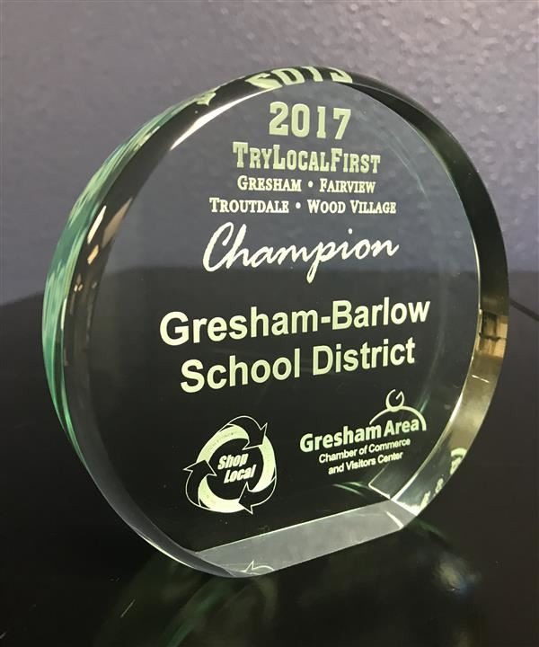 School district wins Gresham Chamber award